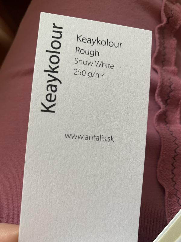 Keaykolour Rough Snow White, 450 g/m2